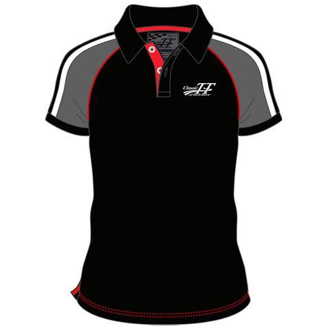 tt ladies polo black isle of man tt official shop official isle of man classic tt grey and black polo shirt