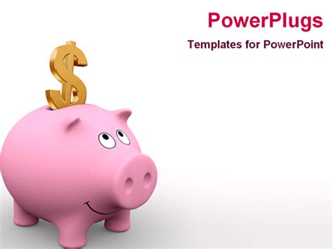 powerpoint template 3d graphics of a piggy bank with a