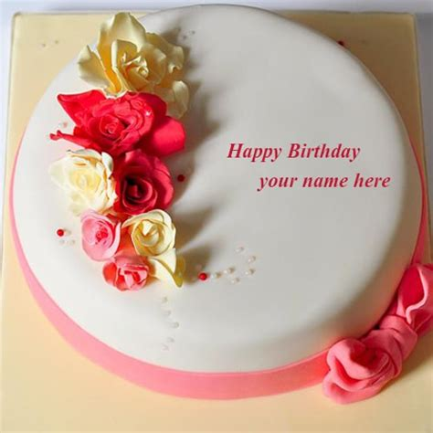 Happy Birthday Wishes With Name Rose Flowers Happy Birthday Cake Images Name Editor