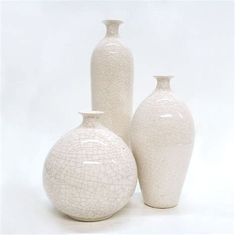 Small White Vase 3 White Vases Small Bud Vase Modern Minimal Ceramic Bottle