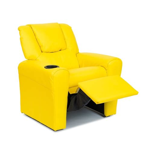 yellow leather recliner chair buy kids leather recliner chair yellow online in australia