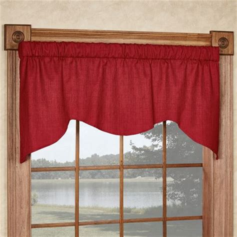 Shaped Valances For Windows Solid Color M Shaped Window Valance
