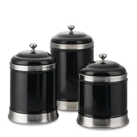 williams sonoma ceramic kitchen canisters set of 3 black new in box ebay