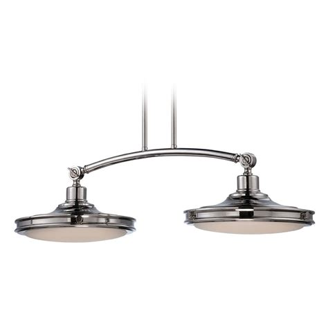 Led Island Lights Led Island Light With White Glass In Polished Nickel Finish 62 167 Destination Lighting