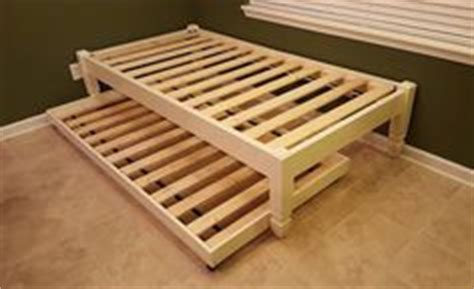 Custom Platform Bed With Storage Handmade Daybed And Trundle Solid Pine Wood With A White