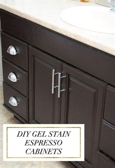 espresso wood color staining oak cabinets an espresso color diy tutorial