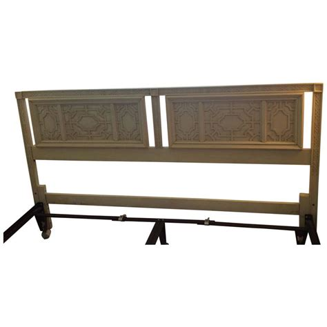 thomasville headboard vintage king size fretwork