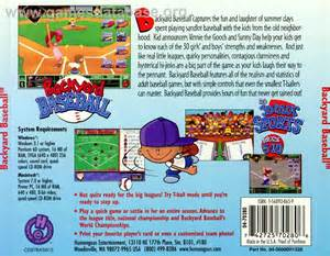 Backyard Baseball Humongous Entertainment Backyard Baseball Scummvm Database