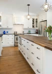 butcher block countertops in the kitchen driven by decor