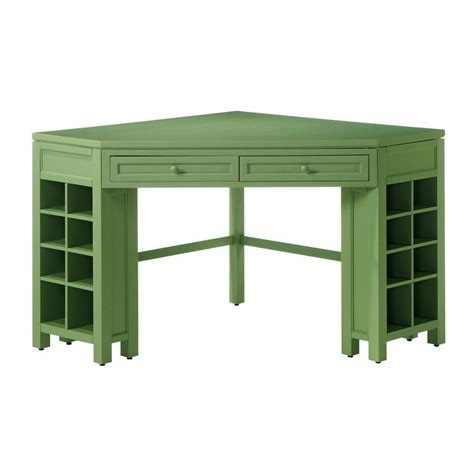 Table L Home Depot by Martha Stewart Living Rhododendron Leaf Corner Craft Table