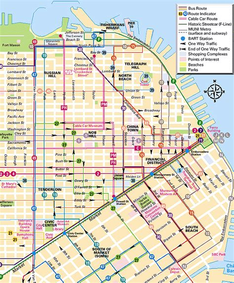 cable car map san francisco california muni cable car route map