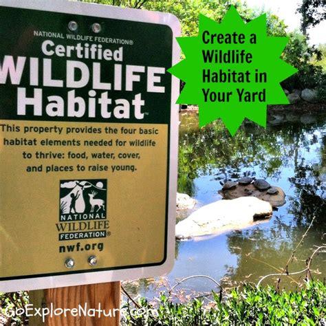 your backyard wildlife habitat begin create a wildlife habitat in your yard goexplorenature com