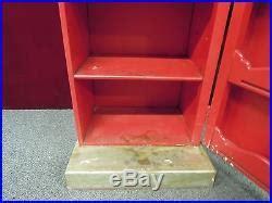 texaco gas pump multimedia cabinet clock light red wood