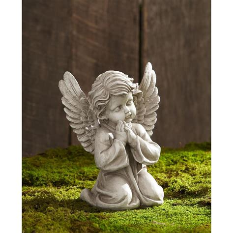 praying cherub angel figurine statue garden patio yard art