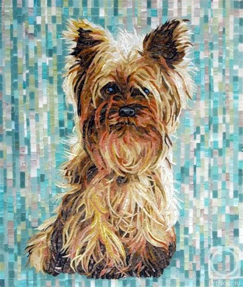 i want a yorkie puppy terrier mosaic i want this for my house dogggggggggggssssssssss