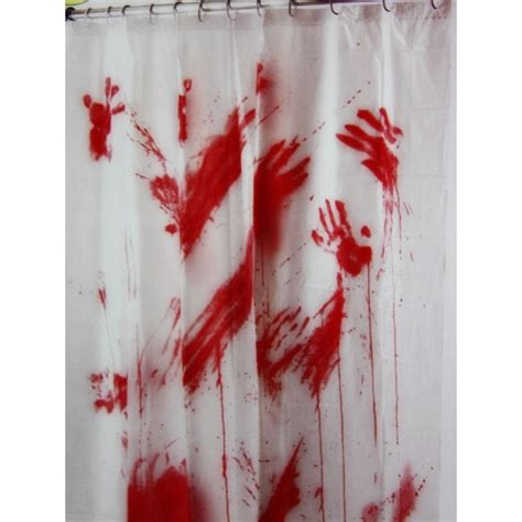 Bloody Halloween Costumes Bloody Shower Curtain Halloween Decorations