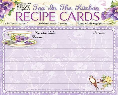 make recipe cards teacup design recipe cards printables
