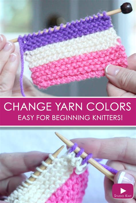 changing colors knitting how to change yarn colors while knitting studio knit