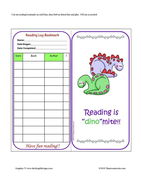 printable reading log bookmarks 8 best images of dinosaur theme printable readers