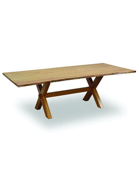 frontier dining table with live edge amish direct furniture
