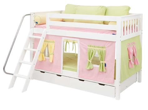 playhouse bunk beds white hot hot bunk bed by maxtrix kids pink yellow green