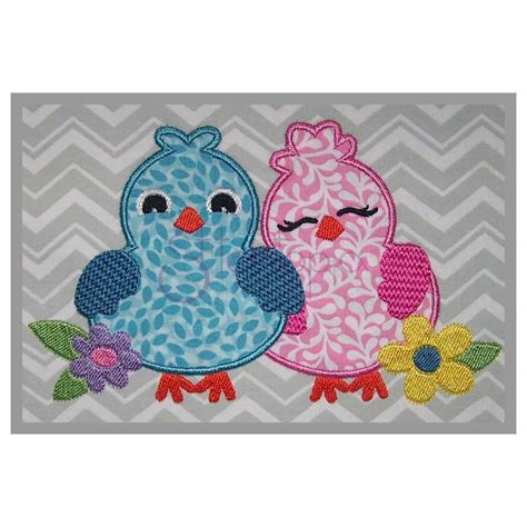 embroidery applique bird applique design lovebirds stitchtopia