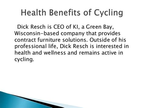 health benefits of cycling by resch