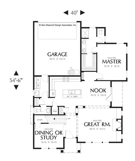 house plans with mudroom and pantry mascord house plan 2184a the whitney