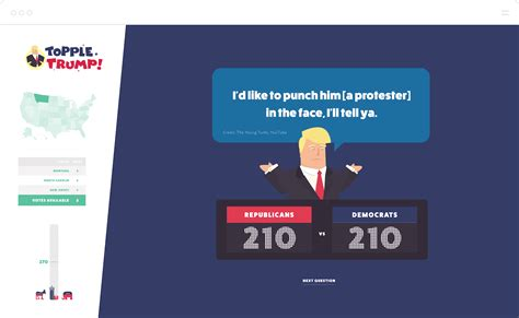 game design quiz building topple trump an interactive web based quiz
