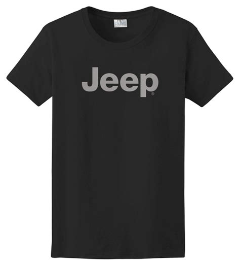 light gray jeep all things jeep s t shirt with light gray jeep logo