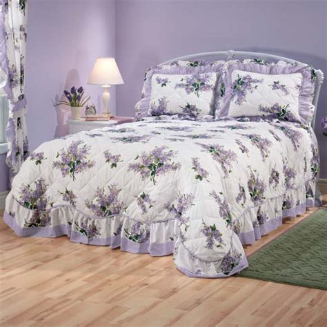 lilac coverlet lilac bouquet bedding bouquet bedding miles kimball