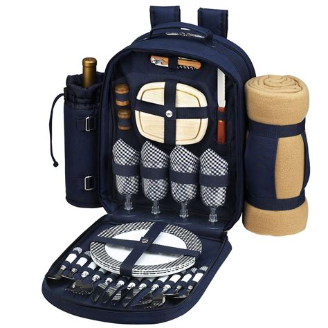 1kg Promo Picnic Cooler Set bold picnic backpack cooler for four with blanket china