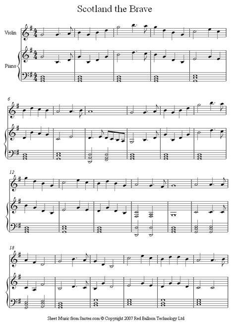 Scotland The Brave by Scottish Accordion Sheet Free Tredwellsmusic Free