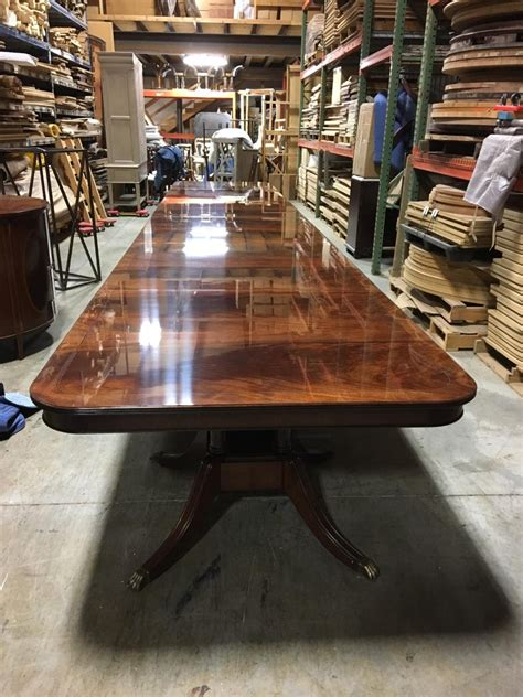 custom large  ft mahogany georgian style dining table