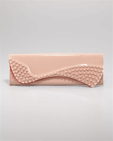 Christian Louboutin Alpaca Clutch by Christian Louboutin Pigalle Patent Spike Clutch In