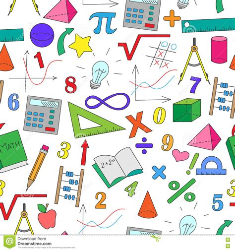 imagenes de matematicas y fisica naadloze illustratie met hand drawn eenvoudige tekeningen