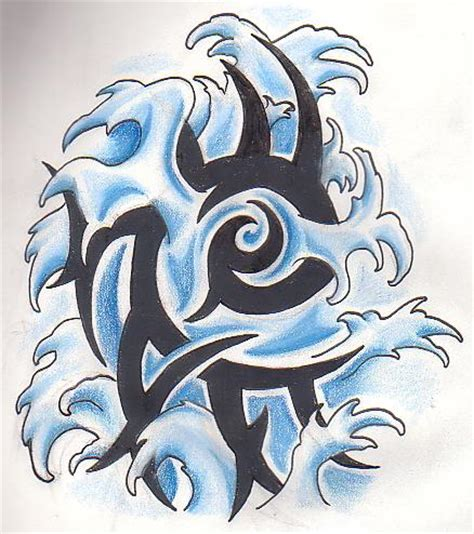 water element tribal by greenheethar on deviantart