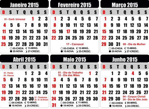 Calendario N 2015 Calennd 225 2015 Feriados E Novas Perspectivas De Vida