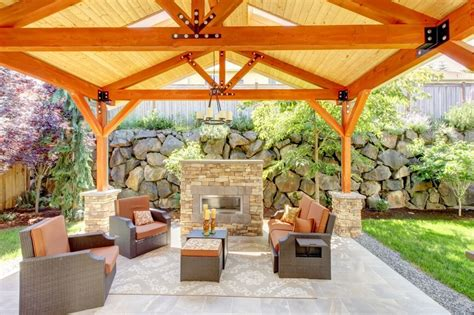 Building A Backyard Pavilion by 32 Fabulous Backyard Pavilion Ideas