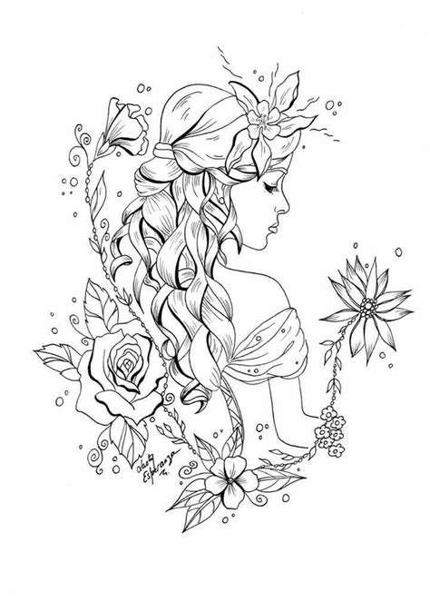 braids  beauty fairy coloring pages fairy coloring