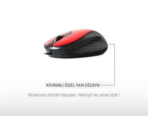 Mouse Optik Lu Standart everest sm 136 usb 6 renkli optik mini mouse segment destek