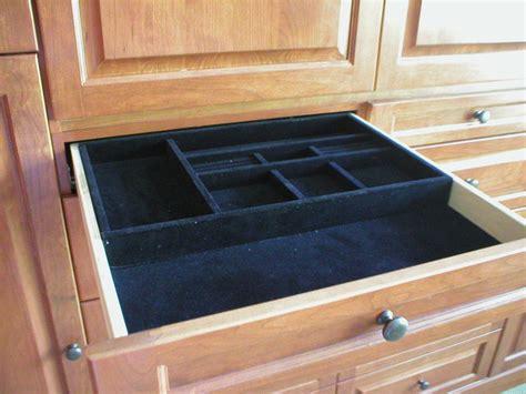jewlery tray velvet lined drawer