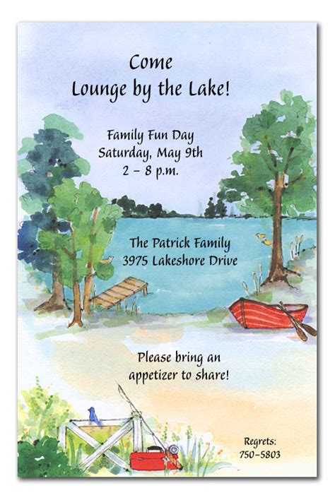 Wedding Invitations Lake Theme by Picnic By The Lake Invitations By Invitation