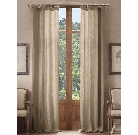 hardware for drapes restoration hardware belgian opaque linen drapery decor