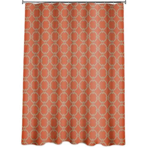 Shower Curtains Orange Links Peva Shower Curtain Russett Orange 171 Fabric Shower Cutains Dot