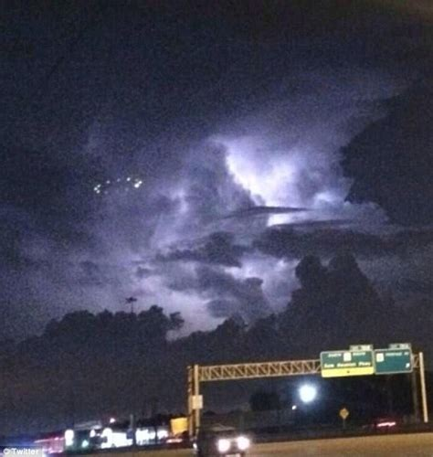 Bright Lights Fort Worth by Ufo Photographed Hovering Above Houston S Skies