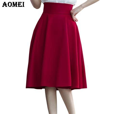 high waist pleat skirt green black white knee