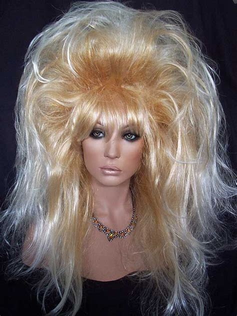 pictures pf frosted hair drag queen wig frosted gold tipped big hair http www
