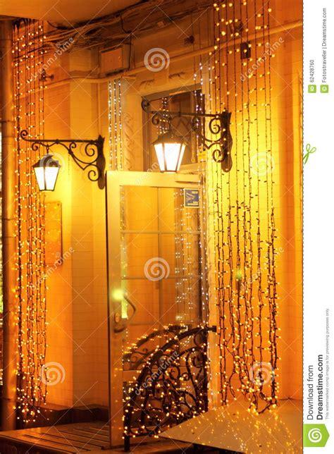 nights of shimmering lights garlands of shimmering night stock photo image 62428760
