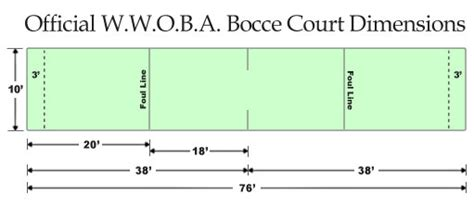 bocce ball court dimensions bing images